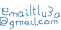 handdrawn email address